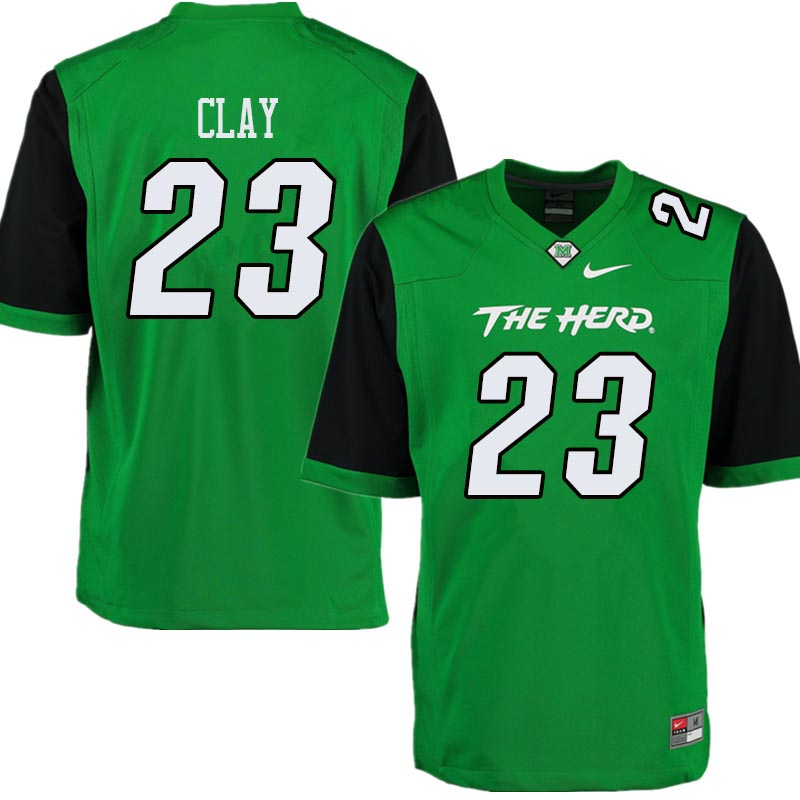 Men #23 Chad Clay Marshall Thundering Herd College Football Jerseys Sale-Green
