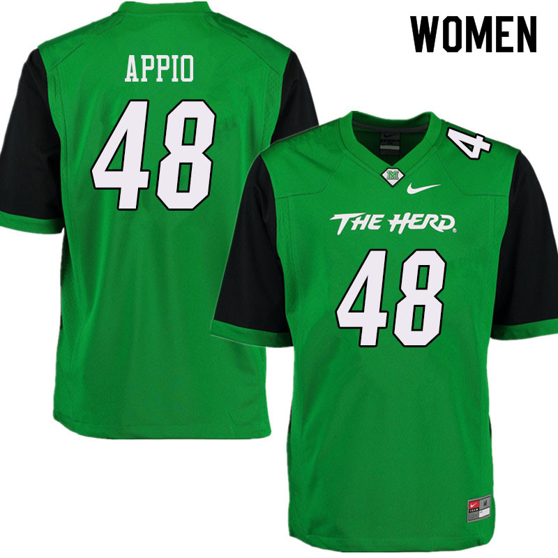 Women #48 Zach Appio Marshall Thundering Herd College Football Jerseys Sale-Green