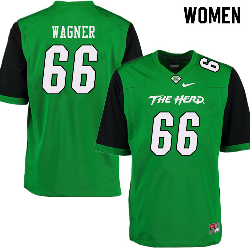 Women #66 Zach Wagner Marshall Thundering Herd College Football Jerseys Sale-Green