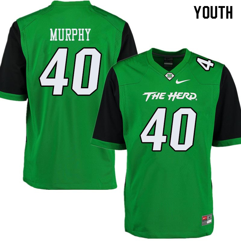 Youth #40 Domenick Murphy Marshall Thundering Herd College Football Jerseys Sale-Green