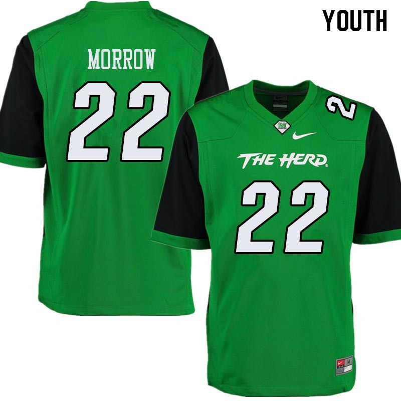 Youth #22 Jestin Morrow Marshall Thundering Herd College Football Jerseys Sale-Green