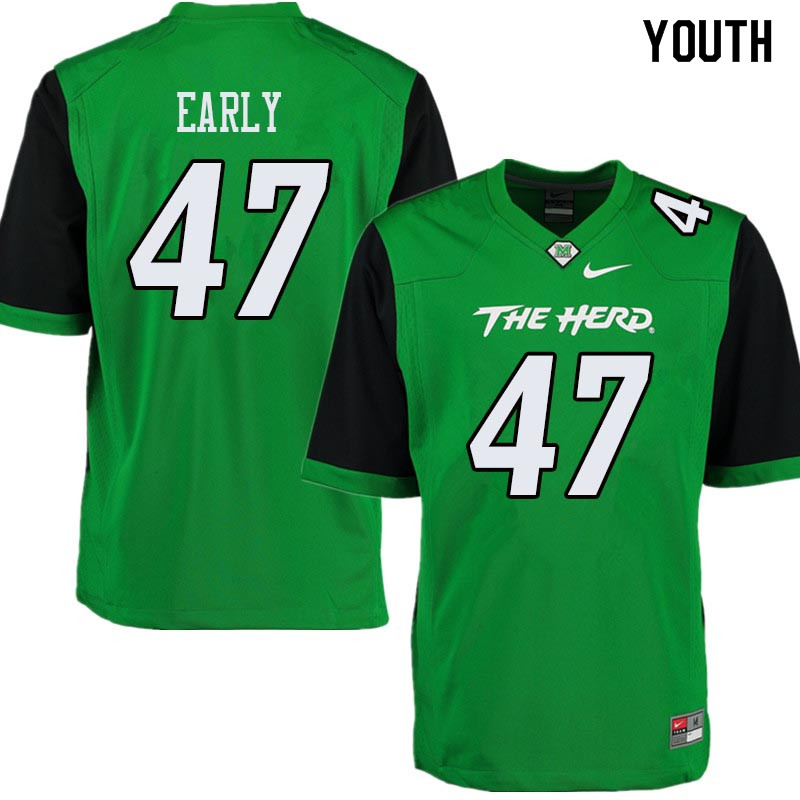 Youth #47 Joseph Early Marshall Thundering Herd College Football Jerseys Sale-Green