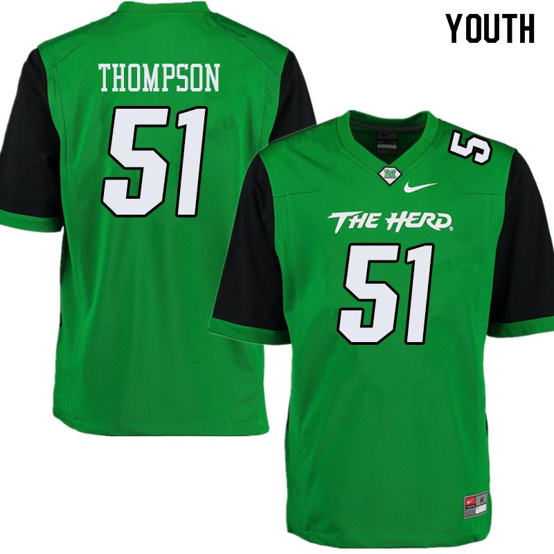 Youth #51 Malik Thompson Marshall Thundering Herd College Football Jerseys Sale-Green