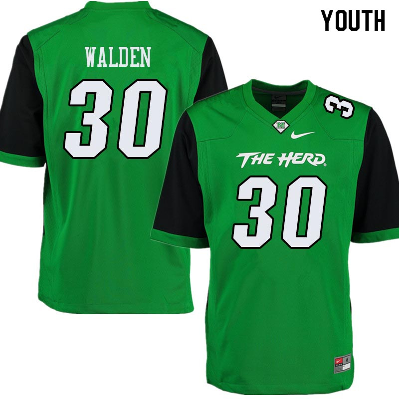 Youth #30 Simino Walden Marshall Thundering Herd College Football Jerseys Sale-Green