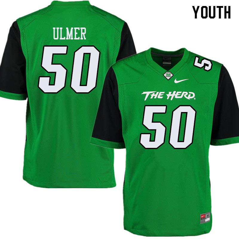 Youth #50 Will Ulmer Marshall Thundering Herd College Football Jerseys Sale-Green